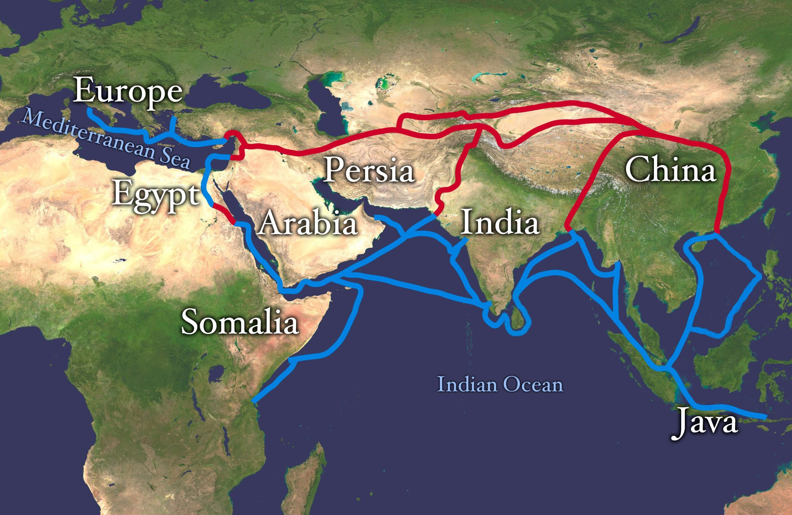 Silk Road an important ancient trading route connecting east to the west